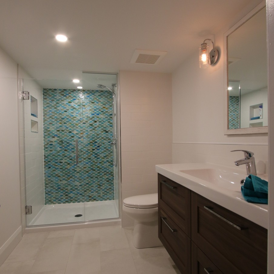 Finished Basement Bathroom Pictures: Malcolm Carpentry » Malcolm Carpentry